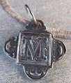 Rustic Monogram M Pendant