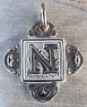 Rustic Monogram N Pendant