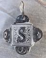 Rustic Monogram S Pendant