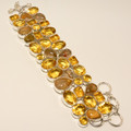 Citrine & Rutilated Quartz Bracelet 002