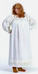Full-Length Drawstring Chemise in white