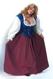 Lady's Skirt in Burgundy