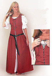 Country Dress-Scarlet Red