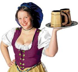 Barmaid Bodice-Burgundy