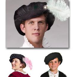 Velvet Elizabethan Cap