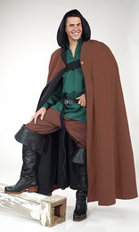Wool Long Cloak with Hood