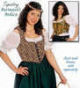 This is the Brocade Barmaid Bodice style