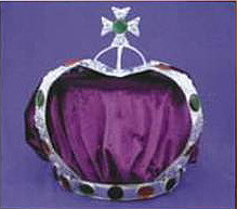 Maltese Cross Crown with Purple Cap