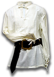 Fine Pleat Renaissance Shirt, pre-shrunk