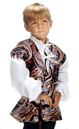 Child's Brocade Commoner's Vest