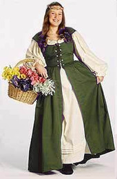 Irish Dress in Olive