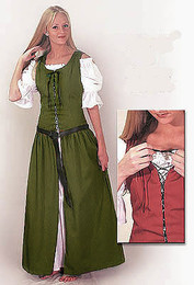 Country Dress-Olive