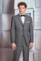 Ike Behar Ultra Slim Fit Grey Plaid Hamilton Suit Style J 231