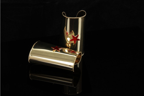 Cuff Gold/Red Star 5""