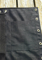 "Optional 10"" x 10"" Sewn-on Black Mesh Halyard Pocket"