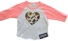 Infant Poly-Cotton 3/4 Sleeve Raglan NEON