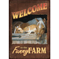 Funny Farm House Flag