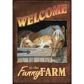 Funny Farm House Flag