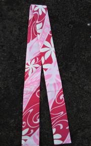 Hawaiian Neck Cooler (Pink Flower Abstract)