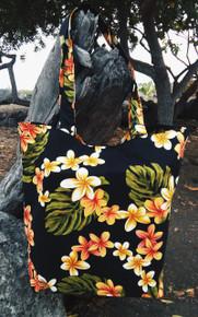 Plumeria flowers Print Tote Bag