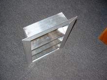 "4"" Deep Flanged Fixed Aluminum Louver 12""x12"" Mill Finish"