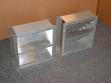 "4"" Deep Channel Frame Fixed Aluminum Louver 12""x12"" Mill Finish"