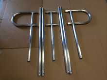 Aluminum handrail is welded in sections to make shipping economical. Call us at 772-223-9335 for quotes on other sizes.
