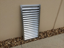 """Example of fully welded 2"""" louver with L2 Blades"""