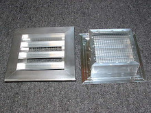 "2"" Deep  Fixed Aluminum Louver 6""x6""Mill Finish"