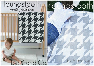 V & Co - Houndstooth Quilt Pattern