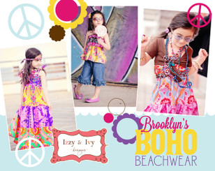 Izzy & Ivy Designs - Brooklyn's Boho Beachwear Pattern Book