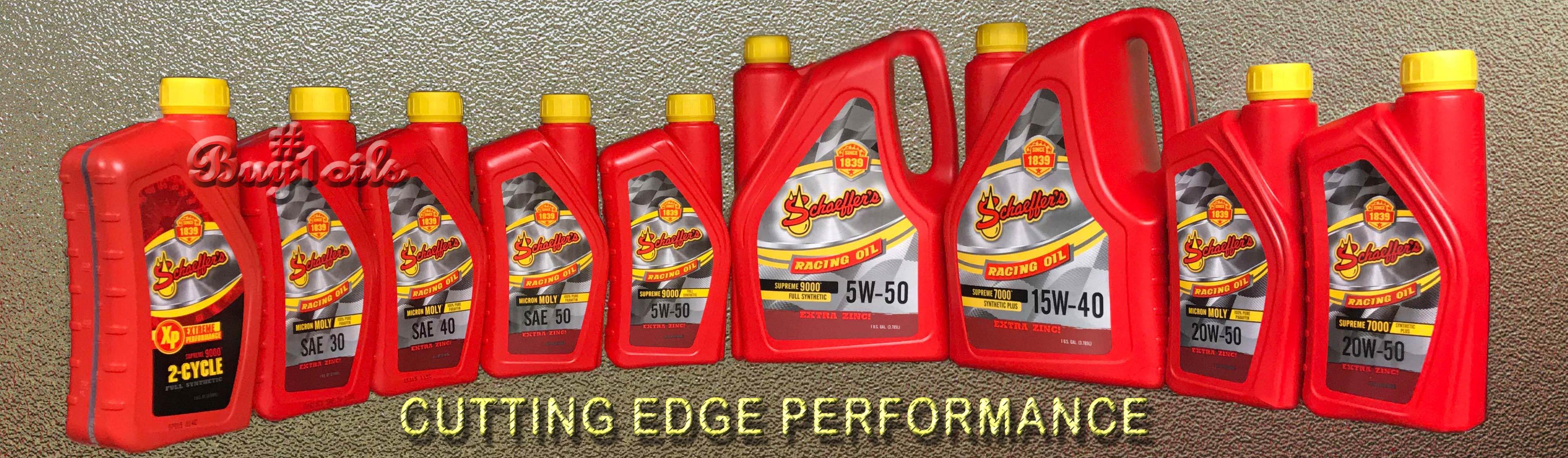 Schaeffer racing oils
