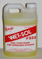 Wet-Sol Concentrate is a biodegradable, non-ionic surfactant that aids irrigation and weed control.