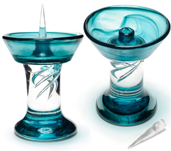 Turquoise Royal Glass Debowler