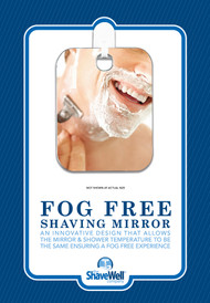 The Shave Well Company a TRULY FOG FREE Shower Shave Mirror. Truly fogless by design. Will not fall off of the wall. …