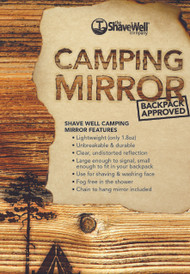 The Shave Well Company Unbreakable Camping Mirror - Backpack Approved …