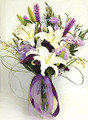Eligant Purple Pretty Floral Arrangement with vase