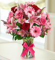 Pleasing You Pink Mix Floral Bouquet