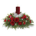 Fresh Christmas Floral Centerpiece with candle