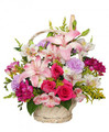 Basket of Fresh Assorted Floral Mix
