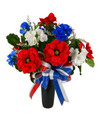 Patriotic Silk Cemetery Arrangement