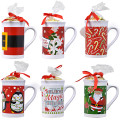 A great little gift idea that's tagged and ready to give! Whimsical ceramic mugs are filled with a .17-oz. bag of individually-wrapped peppermint candy and topped with a bow and gift tag. The perfect gift for teachers, coworkers, neighbors, clients, vendors, and more.