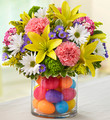Fresh Floral Mix with Plastic Easter Eggs
