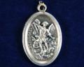 St Michael Oxidized Medal