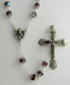Amethyst Double Capped 7mm Bead Rosary