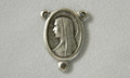 Madonna Rosary Center Silver