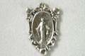 Miraculous Medal Oval Silver Rosary Center