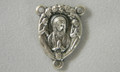 Madonna with Angels Silver Rosary Center
