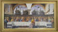 Last Supper 13 x 27 (Ghirlandaio) Gold Frame