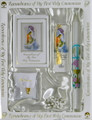 Communion Set Traditions White with Candle